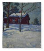 Winter House Fleece Blanket