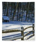 Winter Hut Fleece Blanket