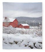 Winter In Connecticut Fleece Blanket