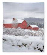 Winter In Connecticut Square Fleece Blanket