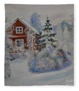 Winter In Finland Fleece Blanket