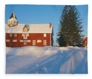 Winter In New England, Mountain View Fleece Blanket