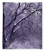 Winter In Purple Fleece Blanket