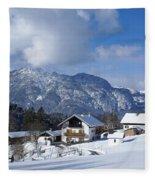 winter in the Bavarian alps 1 Fleece Blanket