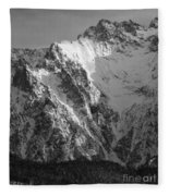 winter in the Bavarian alps 4 Fleece Blanket