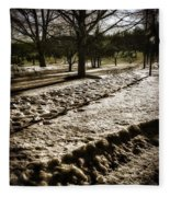 Winter In The Berkshires Fleece Blanket