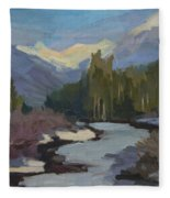 Winter In The Cascade Mountains Fleece Blanket