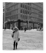 Winter In The City Fleece Blanket