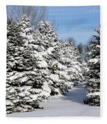 Winter In The Pines Fleece Blanket