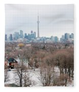 Winter In Toronto Fleece Blanket