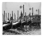 Winter In Venice Fleece Blanket