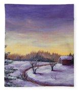 Winter In Vermont Fleece Blanket