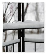 Winter Ironwork Fleece Blanket