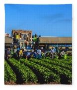 Winter Lettuce Harvest Fleece Blanket