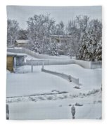 Winter Lines Fleece Blanket