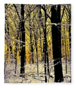 Winter Mood Lighting Fleece Blanket