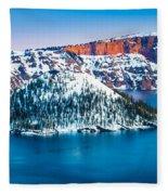 Winter Morning At Crater Lake Fleece Blanket