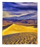 Winter Morning At Death Valley Fleece Blanket