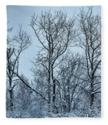 Winter Morning View Fleece Blanket