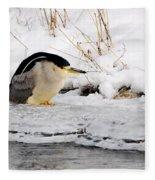 Winter Night Heron Fleece Blanket