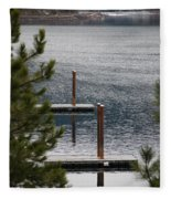 Winter On Lake Coeur D' Alene Fleece Blanket