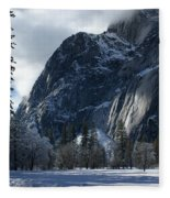 Winter On The Valley Floor Fleece Blanket