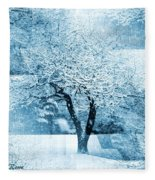 Winter Orchard Fleece Blanket