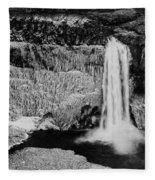 Winter Palouse Falls 3 Fleece Blanket