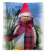 Winter Penguin Photo Art Fleece Blanket