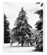 Winter Pines Fleece Blanket