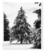 Winter Pines Fleece Blanket