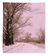 Winter Pink Fleece Blanket