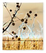Winter Prairie Fleece Blanket