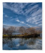 Winter Reflections Fleece Blanket