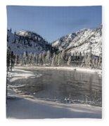 Winter River Fleece Blanket