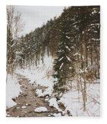 Winter River Fleece Blanket