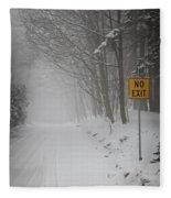 Winter Road During Snowfall I Fleece Blanket