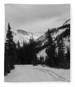 Winter Road Fleece Blanket
