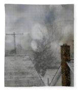 Winter Rooftops Fleece Blanket