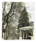 Winter Scene  Fleece Blanket
