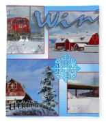 Winter Scenes  Fleece Blanket