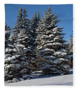 Winter Scenic Landscape Fleece Blanket