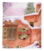 Winter Season Adobe Fleece Blanket