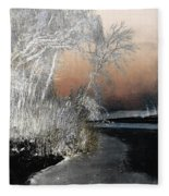 Winter Shroud Fleece Blanket