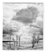 Winter Sky Drama Fleece Blanket