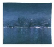 Winter Skyline Fleece Blanket