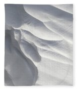 Winter Snow Drift Sculpture  Fleece Blanket