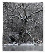 Winter Solitude Fleece Blanket