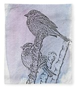 Winter Sparrows 2 Fleece Blanket