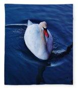 Winter Spin... Swan Style Fleece Blanket